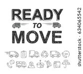 ready to move relocation hand... | Shutterstock .eps vector #634065542