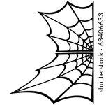spider web over white background | Shutterstock .eps vector #63406633