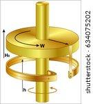 homopolar generator   Shutterstock .eps vector #634075202