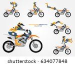 crossbike set. different...   Shutterstock .eps vector #634077848