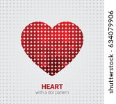 heart with a dot pattern and... | Shutterstock .eps vector #634079906