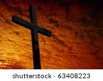 cross silhouette with the... | Shutterstock . vector #63408223