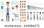 dentist character creation set. ... | Shutterstock .eps vector #634086272