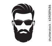 bearded men face  hipster... | Shutterstock .eps vector #634089686