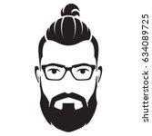 bearded men face  hipster...   Shutterstock .eps vector #634089725