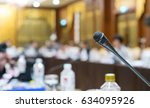 microphone soft focus on blur... | Shutterstock . vector #634095926