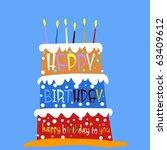 birthday cake | Shutterstock .eps vector #63409612
