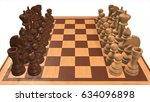 chess set with white background ... | Shutterstock . vector #634096898