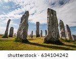 stone circle of callanish ... | Shutterstock . vector #634104242