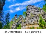 mountain rocks landscape | Shutterstock . vector #634104956