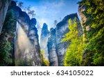 Mountain cliffs landscape