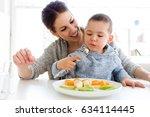 portrait of beautiful young... | Shutterstock . vector #634114445