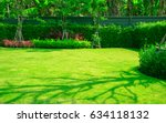 landscape formal  front yard is ... | Shutterstock . vector #634118132