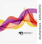 vector wave lines abstract... | Shutterstock .eps vector #634120352