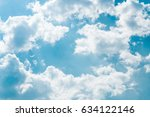 white clouds float in the sky. | Shutterstock . vector #634122146