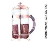 Watercolor Hand Painted Coffee...