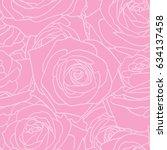 rose pink pattern. floral... | Shutterstock .eps vector #634137458