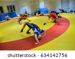 Small photo of WROCLAW, POLAND - OCTOBER 25: National Wrestling League. AZ Supra Brokers Team training on 25th October 2016 in Wroclaw.