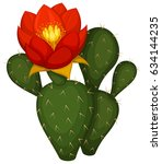 vector illustration of a cactus ... | Shutterstock .eps vector #634144235