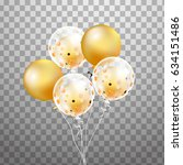 bunch of balloons isolated....   Shutterstock .eps vector #634151486