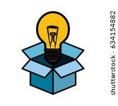 big idea bulb symbol   Shutterstock .eps vector #634154882