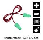 ear plugs vector illustration.... | Shutterstock .eps vector #634172525