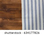 background with empty wooden...   Shutterstock . vector #634177826