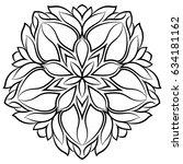 monochrome mandala. the... | Shutterstock .eps vector #634181162