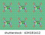 summer design. raster flower... | Shutterstock . vector #634181612