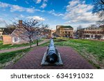 maryland state capitol building ... | Shutterstock . vector #634191032