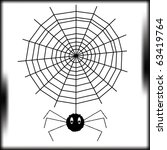 the spider goes down on a web...   Shutterstock .eps vector #63419764