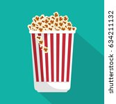 pop corn isolated icon | Shutterstock .eps vector #634211132