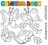 Coloring Book With Butterflies...