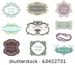 vintage labels collection 5 | Shutterstock .eps vector #63422731