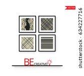 poster frame mock up. vector... | Shutterstock .eps vector #634227716