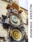 astronomic clock tower in prague | Shutterstock . vector #634231766