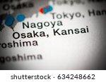 osaka  kansai  japan | Shutterstock . vector #634248662