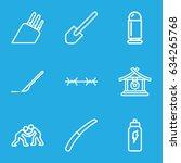 metal icons set. set of 9 metal ...   Shutterstock .eps vector #634265768