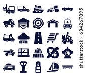 transport icons set. set of 25... | Shutterstock .eps vector #634267895