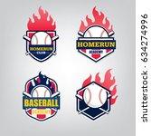 vector design set of baseball... | Shutterstock .eps vector #634274996