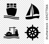 vessel icons set. set of 4... | Shutterstock .eps vector #634277066