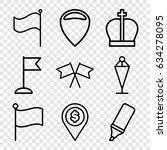 marker icons set. set of 9...