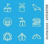 circus icons set. set of 9... | Shutterstock .eps vector #634283588