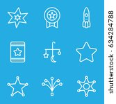 star icons set. set of 9 star... | Shutterstock .eps vector #634284788