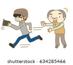 a senior man whose bag was... | Shutterstock .eps vector #634285466