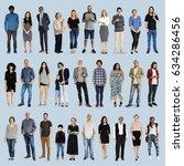 diversity people set gesture... | Shutterstock . vector #634286456