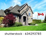 beautiful upscale house in a... | Shutterstock . vector #634293785