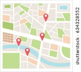 street maps and directions | Shutterstock .eps vector #634328552