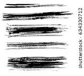 ink vector brush strokes.... | Shutterstock .eps vector #634330712