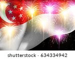 singapore national flag... | Shutterstock .eps vector #634334942